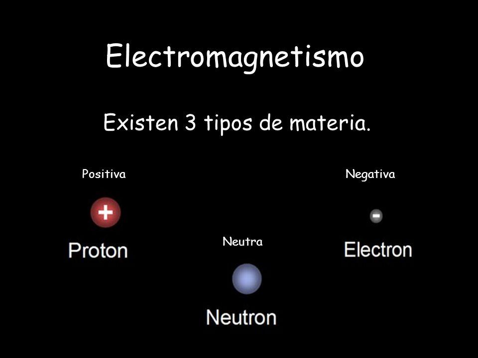 Existen 3 tipos de materia.
