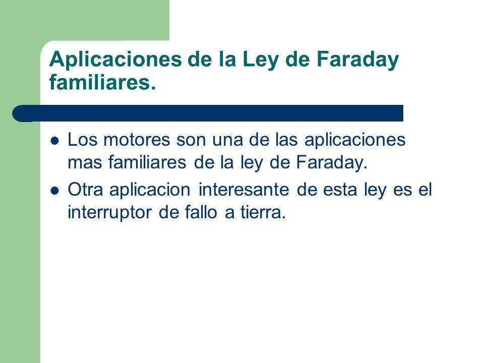 Aplicaciones de la Ley de Faraday familiares.