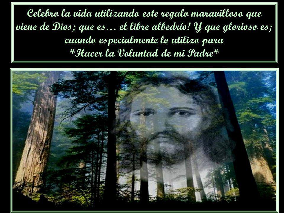 Celebro la vida utilizando este regalo maravilloso que viene de Dios; que es… el libre albedrío.