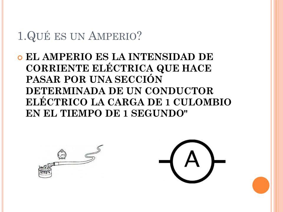1.Qué es un Amperio
