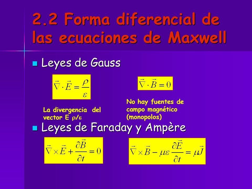 2.2 Forma diferencial de las ecuaciones de Maxwell