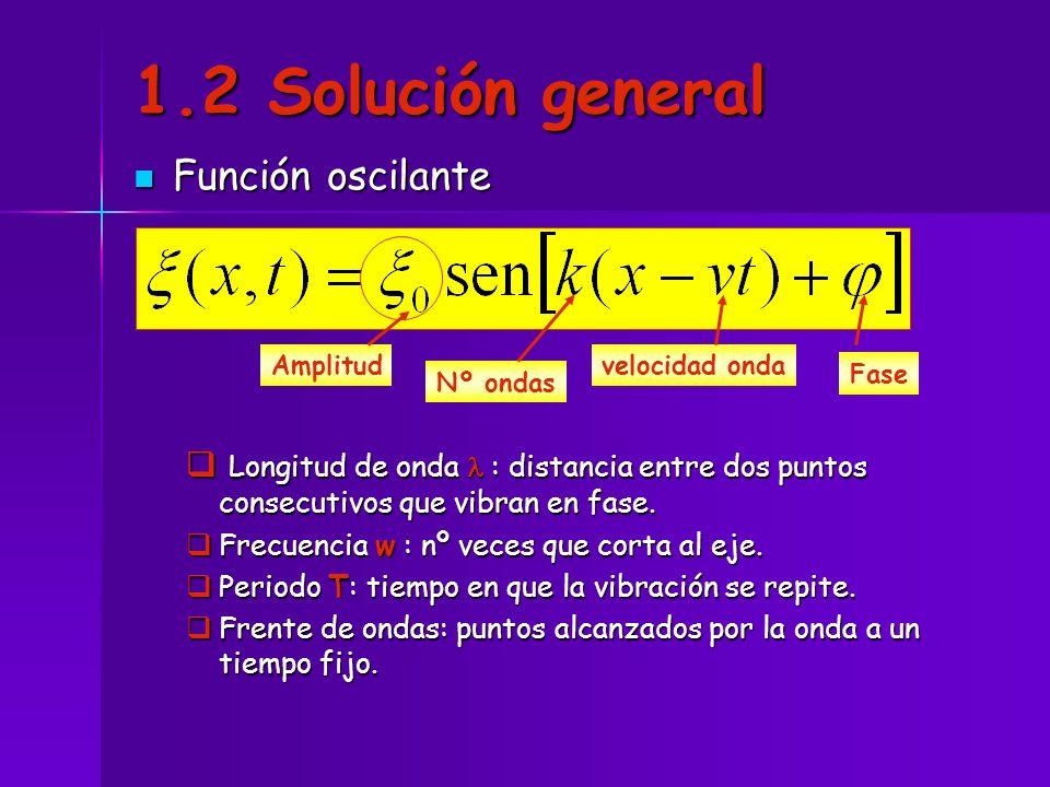 1.2 Solución general Función oscilante