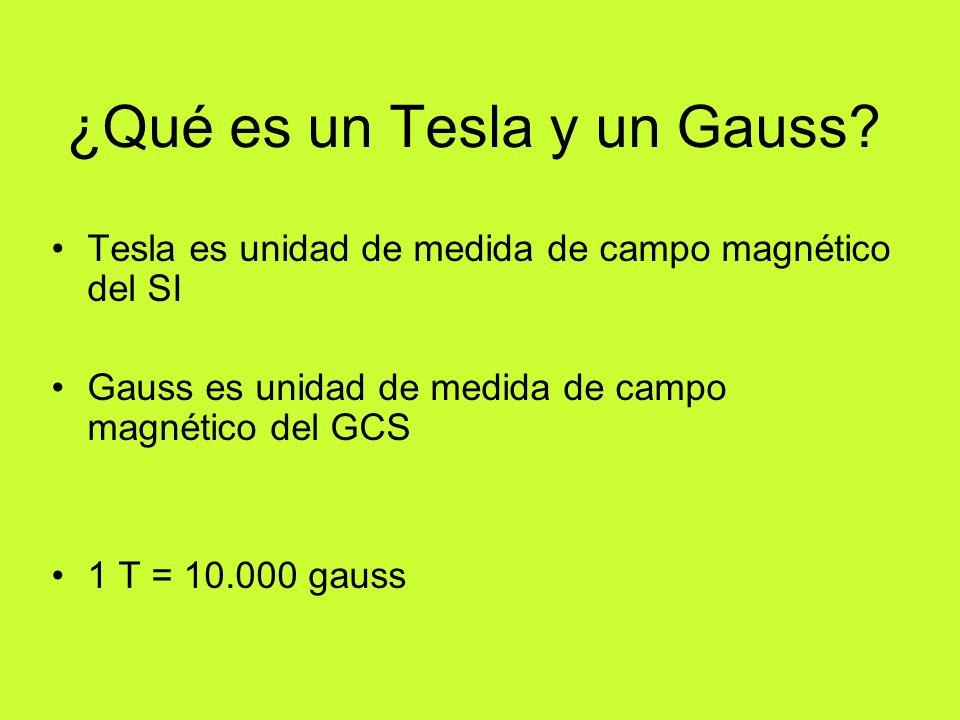¿Qué es un Tesla y un Gauss