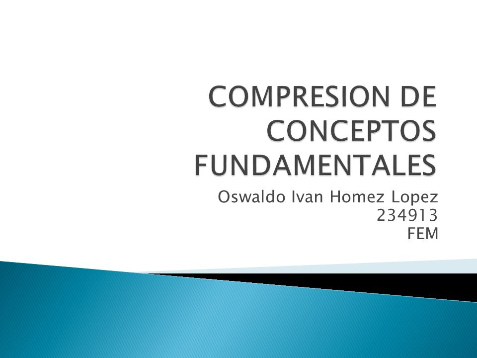 COMPRESION DE CONCEPTOS FUNDAMENTALES