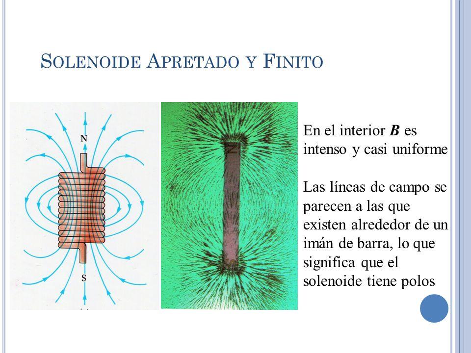 Solenoide Apretado y Finito