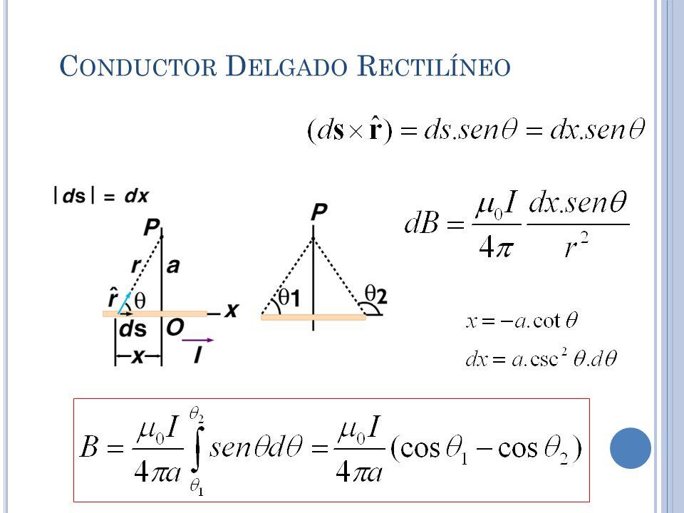 Conductor Delgado Rectilíneo