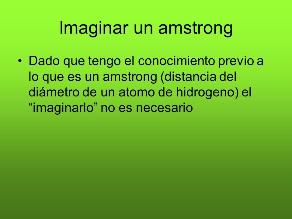 Imaginar un amstrong