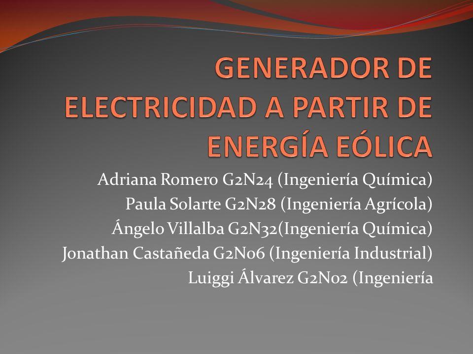 GENERADOR DE ELECTRICIDAD A PARTIR DE ENERGÍA EÓLICA