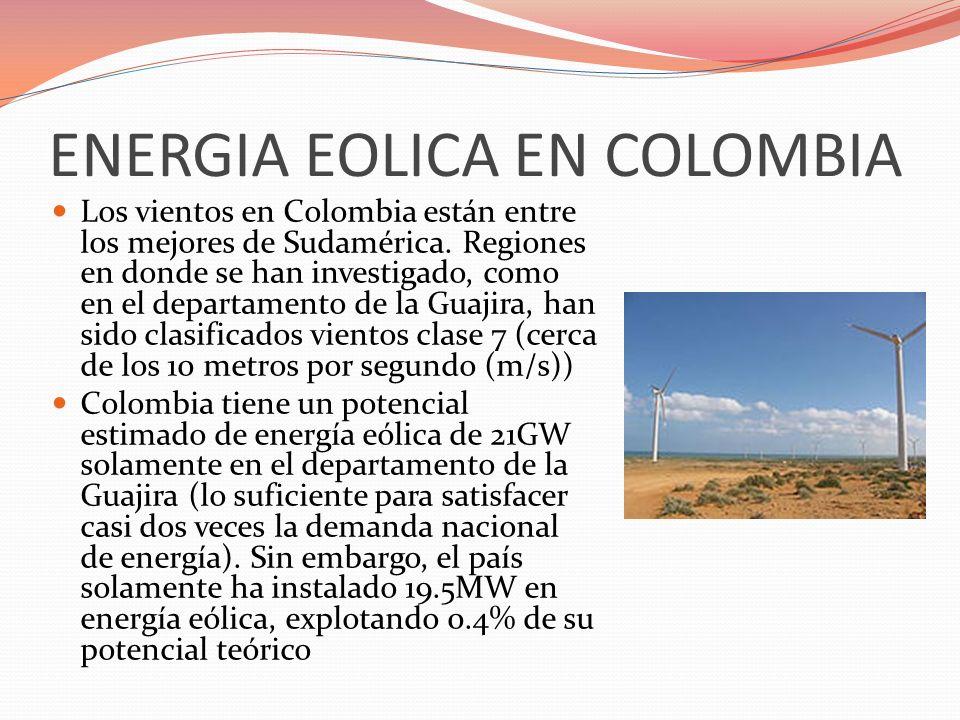 ENERGIA EOLICA EN COLOMBIA