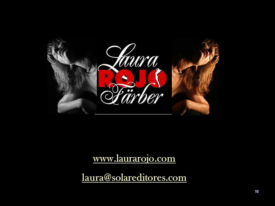 www.laurarojo.com laura@solareditores.com