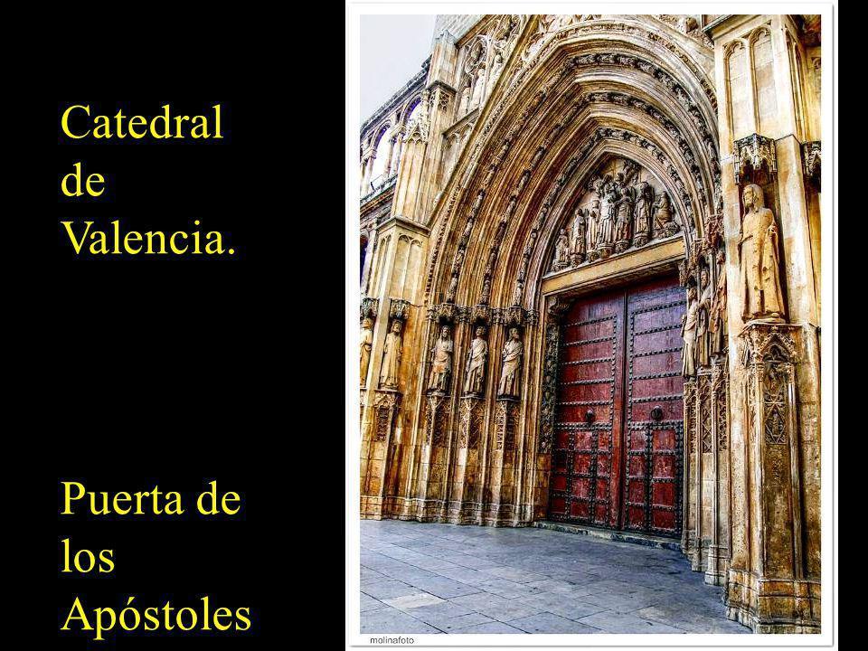 Catedral de Valencia. Puerta de los Apóstoles