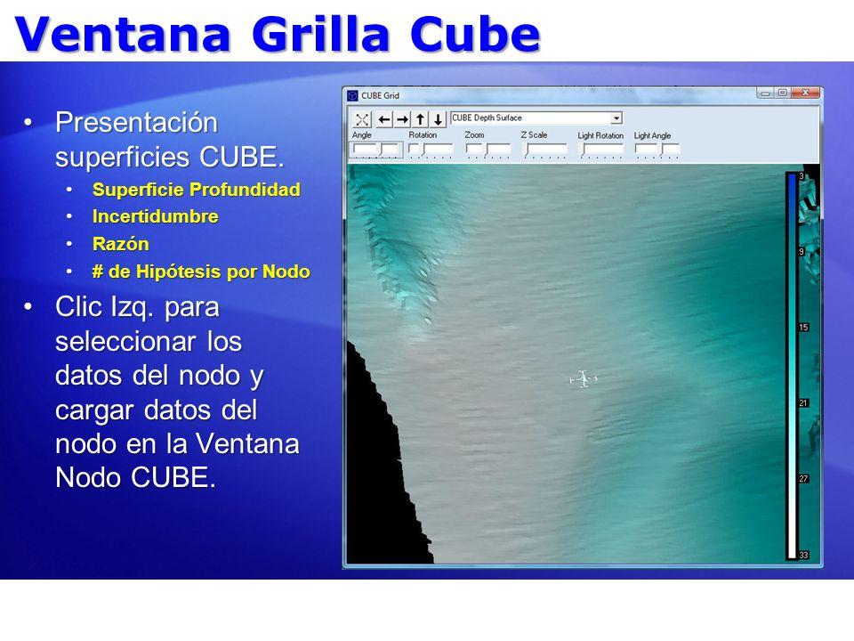 Ventana Grilla Cube Presentación superficies CUBE.