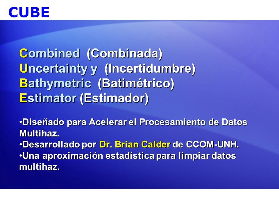 CUBE Combined (Combinada) Uncertainty y (Incertidumbre)