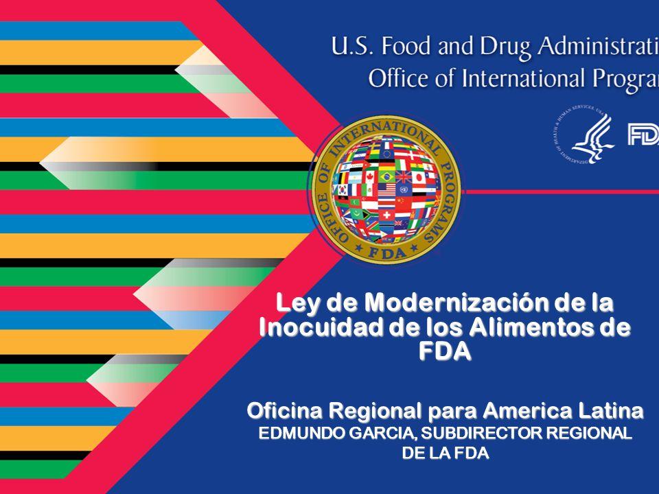 Ley de Modernización de la Inocuidad de los Alimentos de FDA