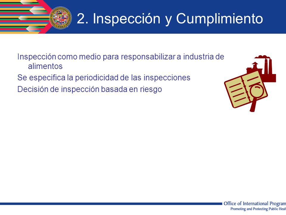 2. Inspección y Cumplimiento