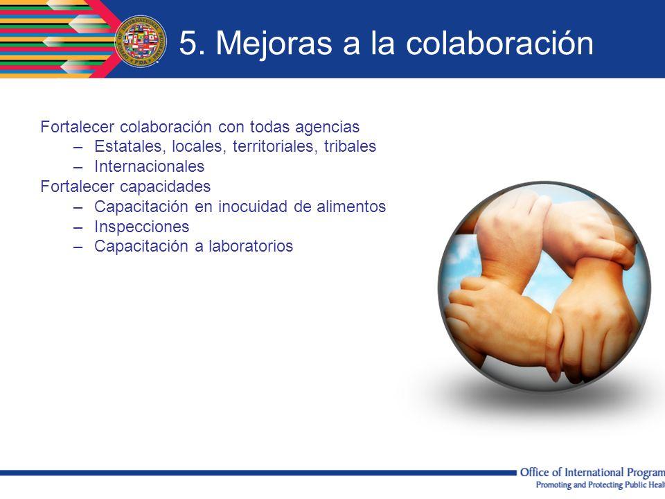 5. Mejoras a la colaboración