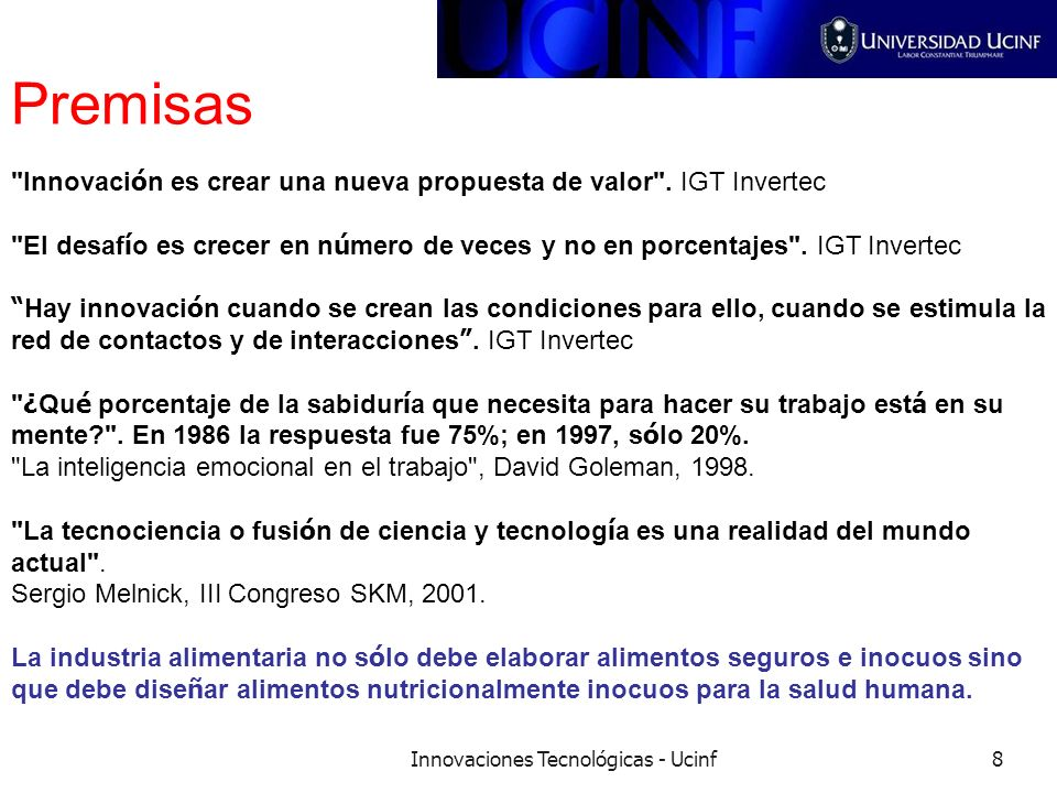 Innovaciones Tecnológicas - Ucinf