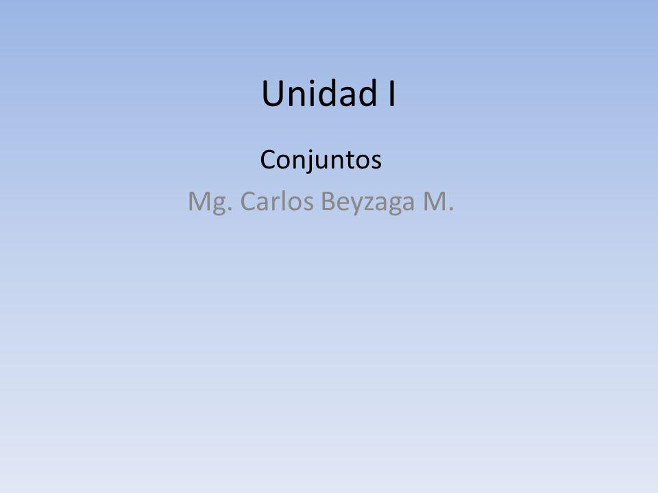 Conjuntos Mg. Carlos Beyzaga M.