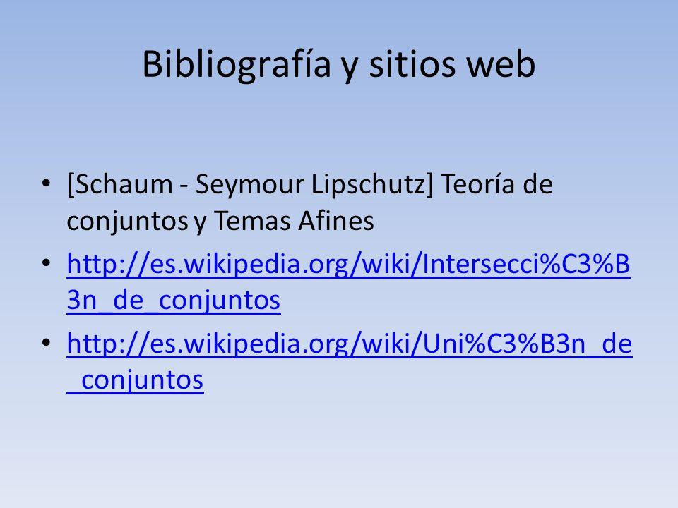 Bibliografía y sitios web