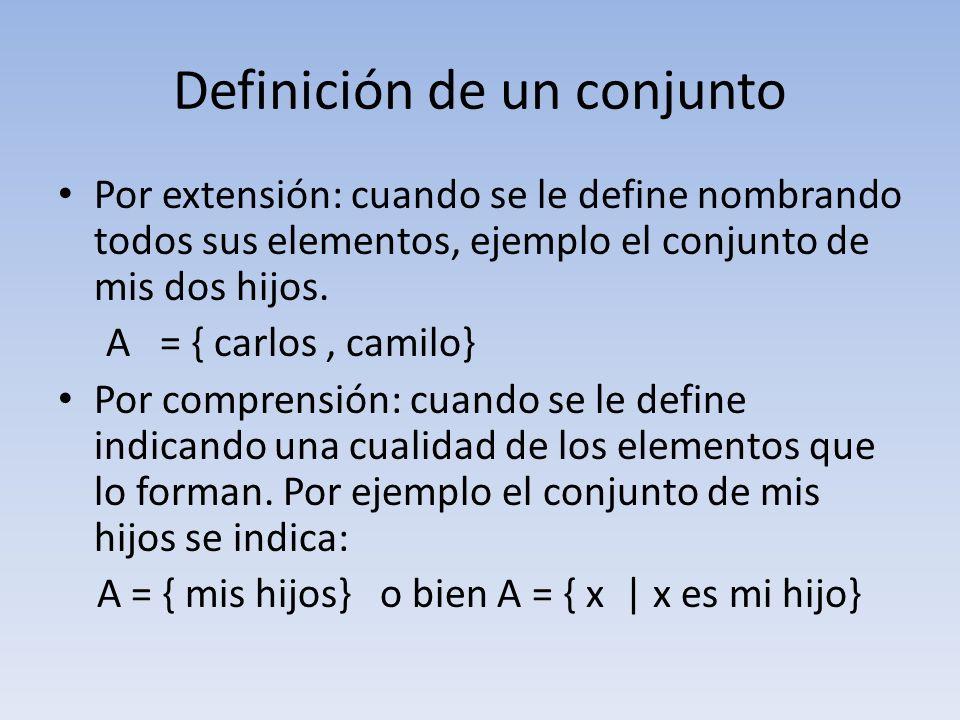 Definición de un conjunto