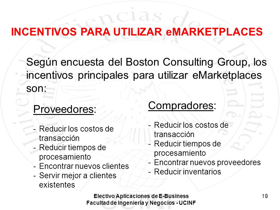 INCENTIVOS PARA UTILIZAR eMARKETPLACES