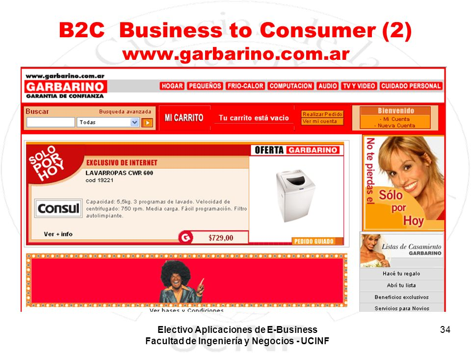 B2C Business to Consumer (2) www.garbarino.com.ar