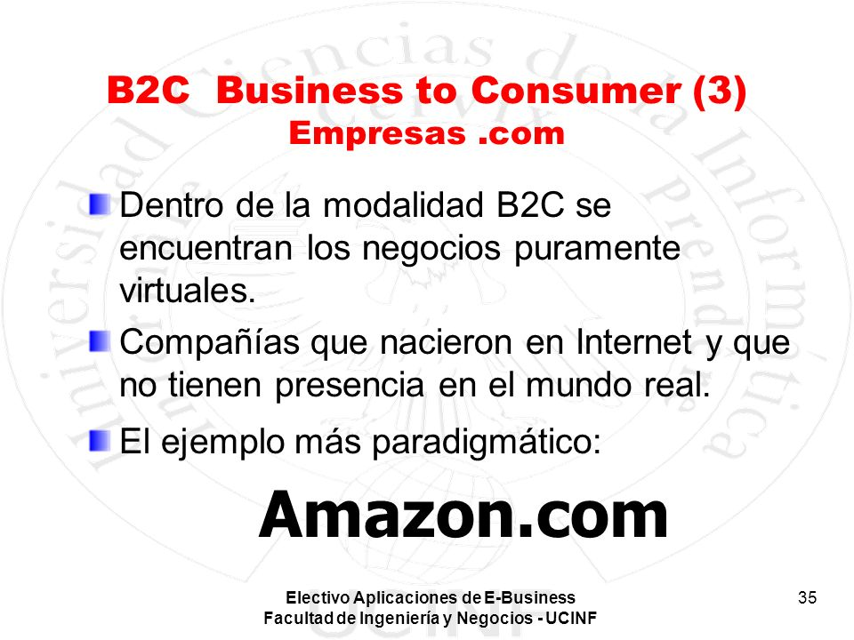 B2C Business to Consumer (3) Empresas .com