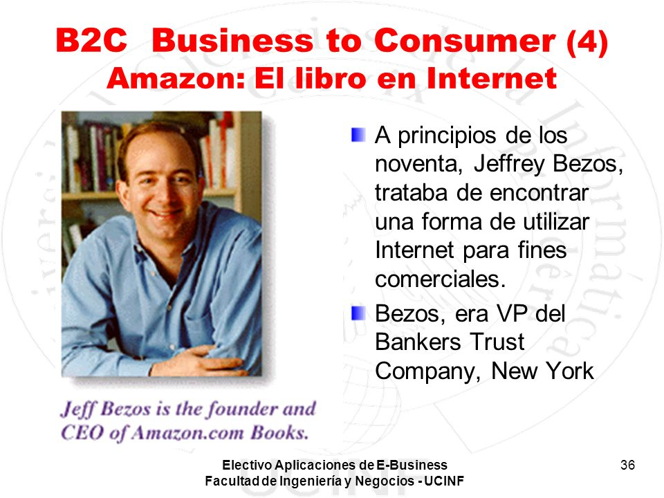 B2C Business to Consumer (4) Amazon: El libro en Internet