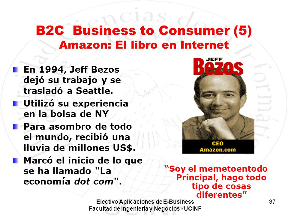 B2C Business to Consumer (5) Amazon: El libro en Internet