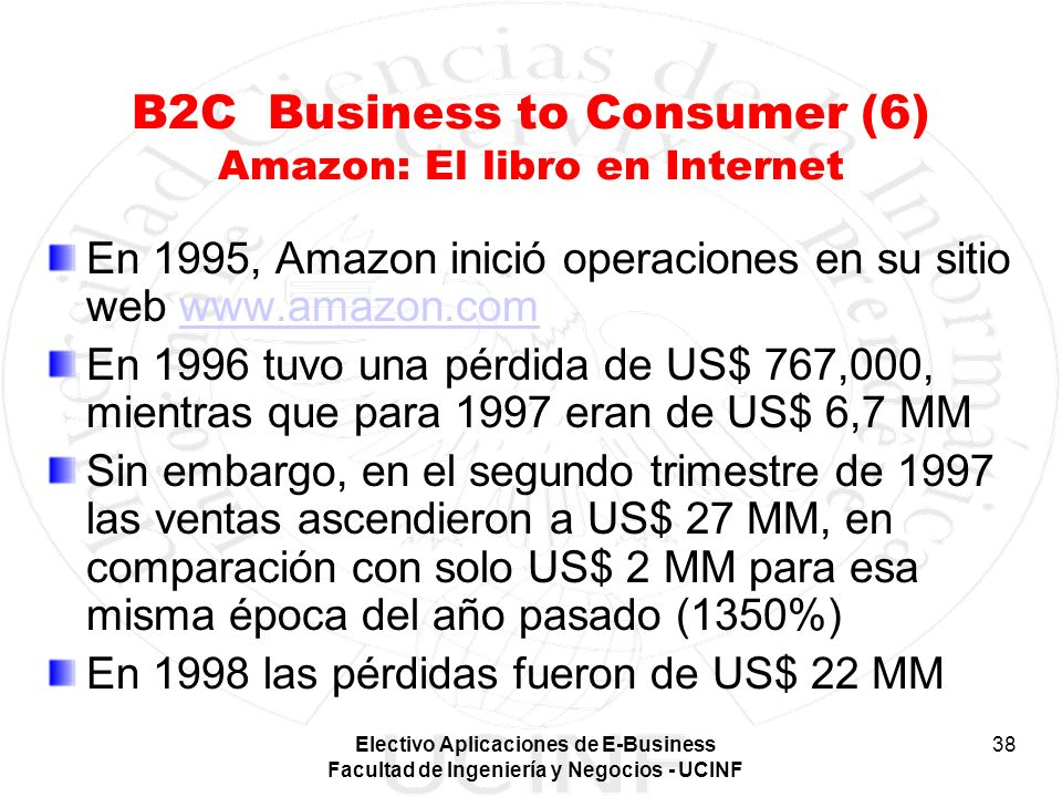 B2C Business to Consumer (6) Amazon: El libro en Internet
