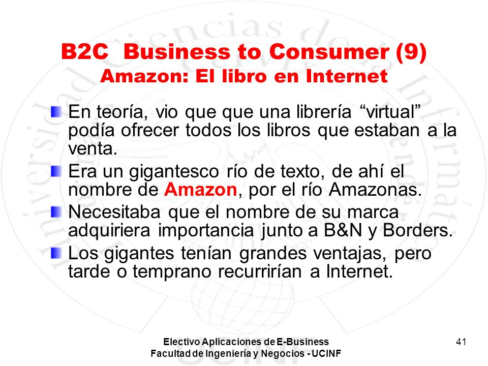 B2C Business to Consumer (9) Amazon: El libro en Internet