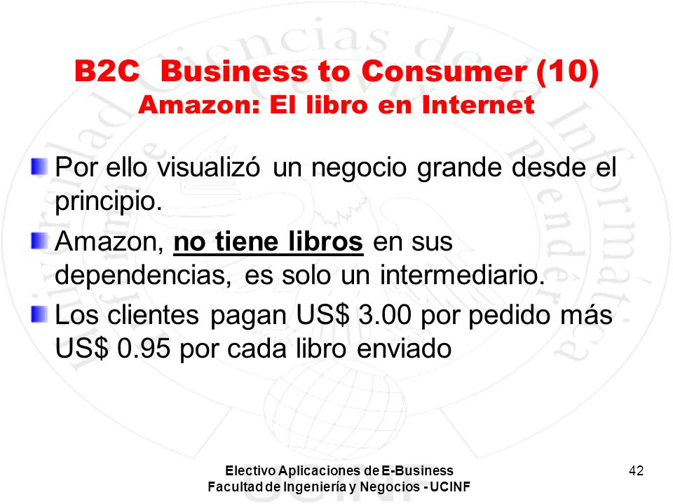 B2C Business to Consumer (10) Amazon: El libro en Internet