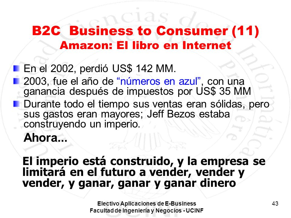 B2C Business to Consumer (11) Amazon: El libro en Internet