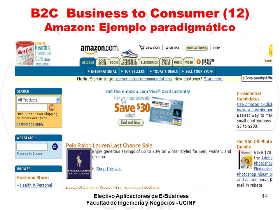 B2C Business to Consumer (12) Amazon: Ejemplo paradigmático