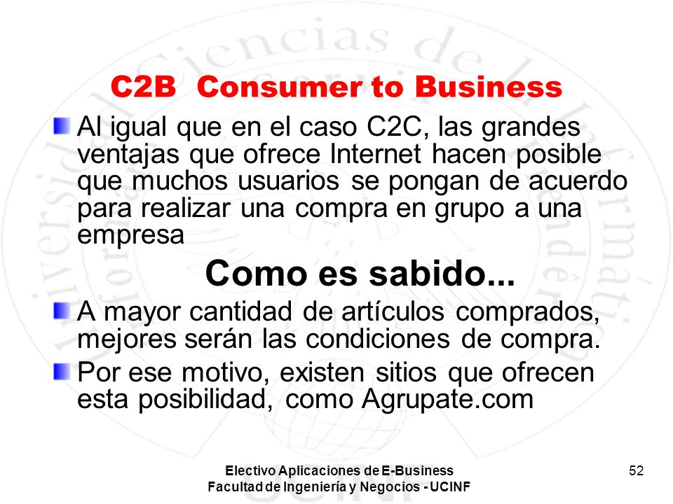 C2B Consumer to Business