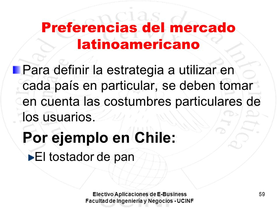 Preferencias del mercado latinoamericano