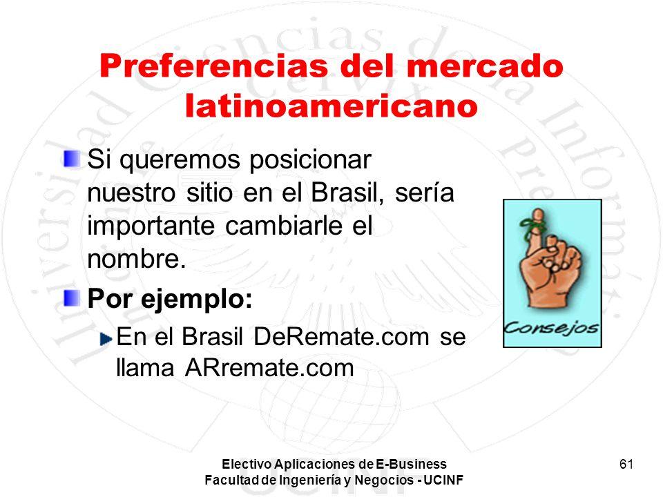 Preferencias del mercado latinoamericano