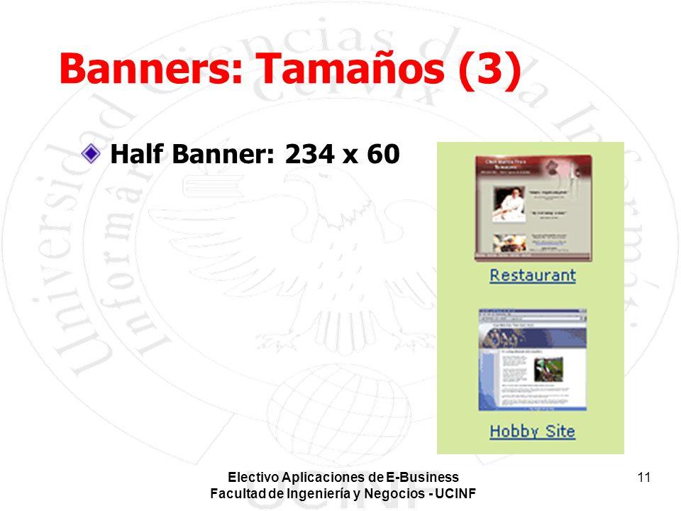 Banners: Tamaños (3) Half Banner: 234 x 60