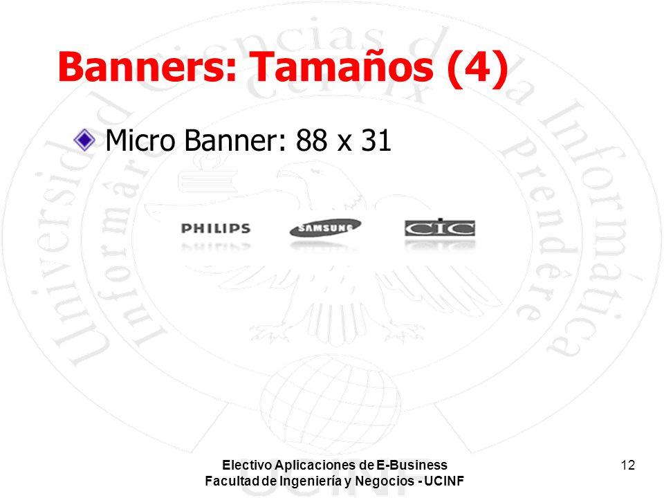 Banners: Tamaños (4) Micro Banner: 88 x 31