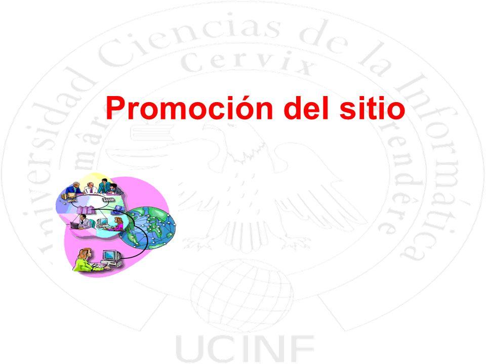 Promoción del sitio