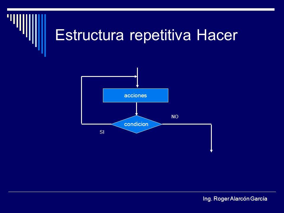Estructura repetitiva Hacer
