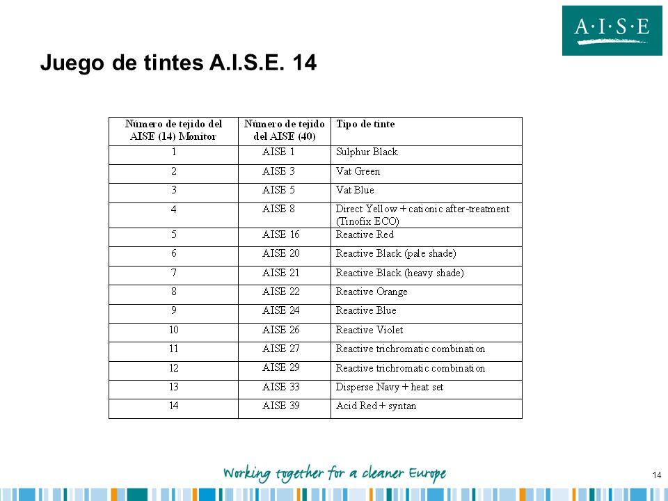 Juego de tintes A.I.S.E. 14
