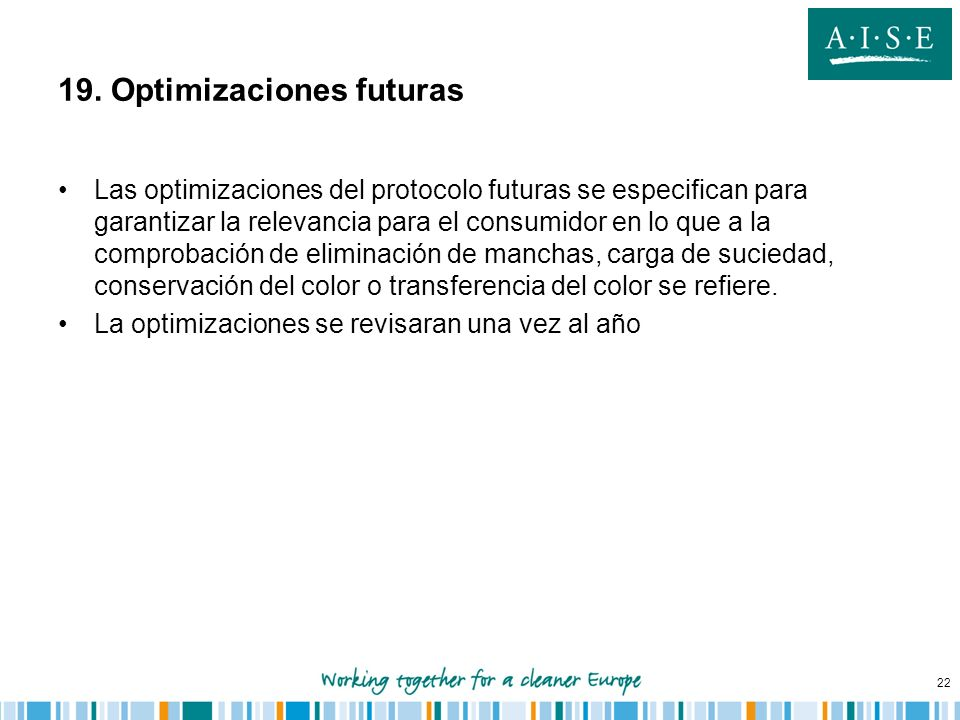 19. Optimizaciones futuras