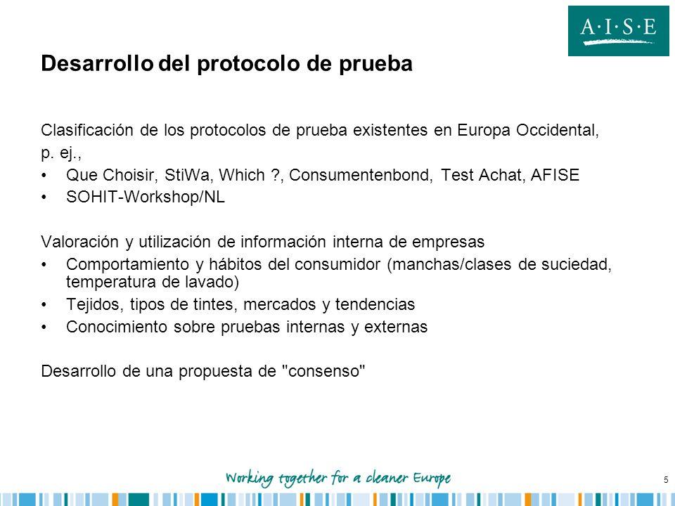 Desarrollo del protocolo de prueba