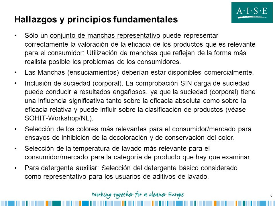 Hallazgos y principios fundamentales