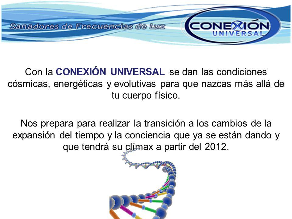 Con la CONEXIÓN UNIVERSAL se dan las condiciones cósmicas, energéticas y evolutivas para que nazcas más allá de tu cuerpo físico.