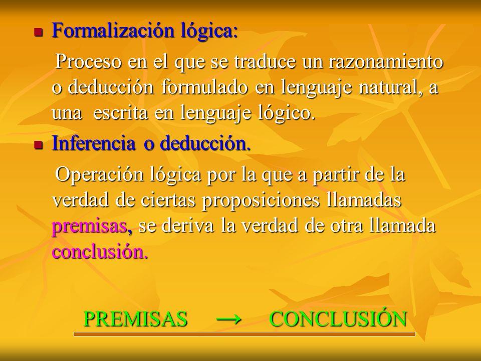 Formalización lógica: