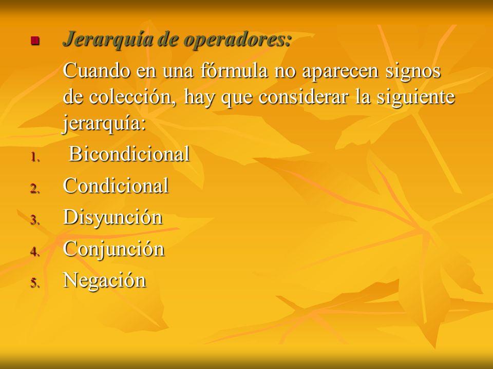 Jerarquía de operadores: