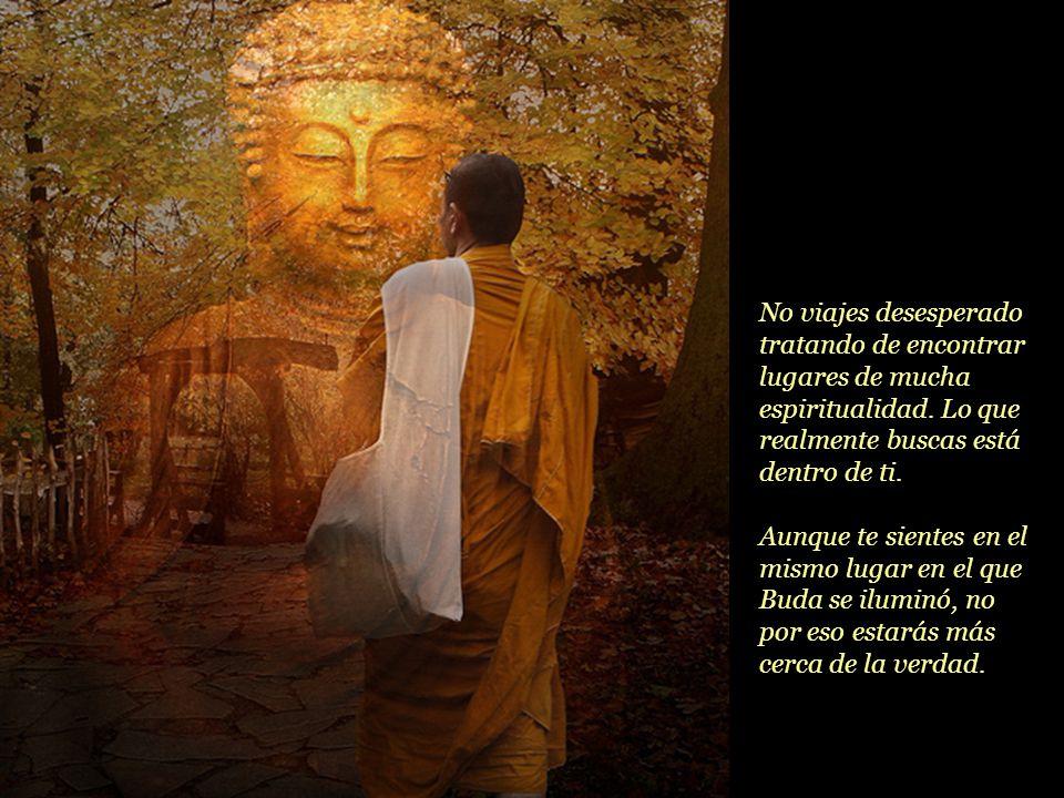 No viajes desesperado tratando de encontrar lugares de mucha espiritualidad. Lo que realmente buscas está dentro de ti.