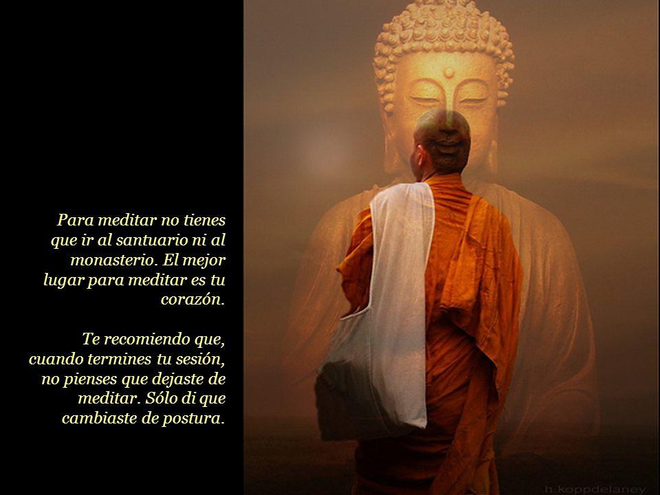 Para meditar no tienes que ir al santuario ni al monasterio